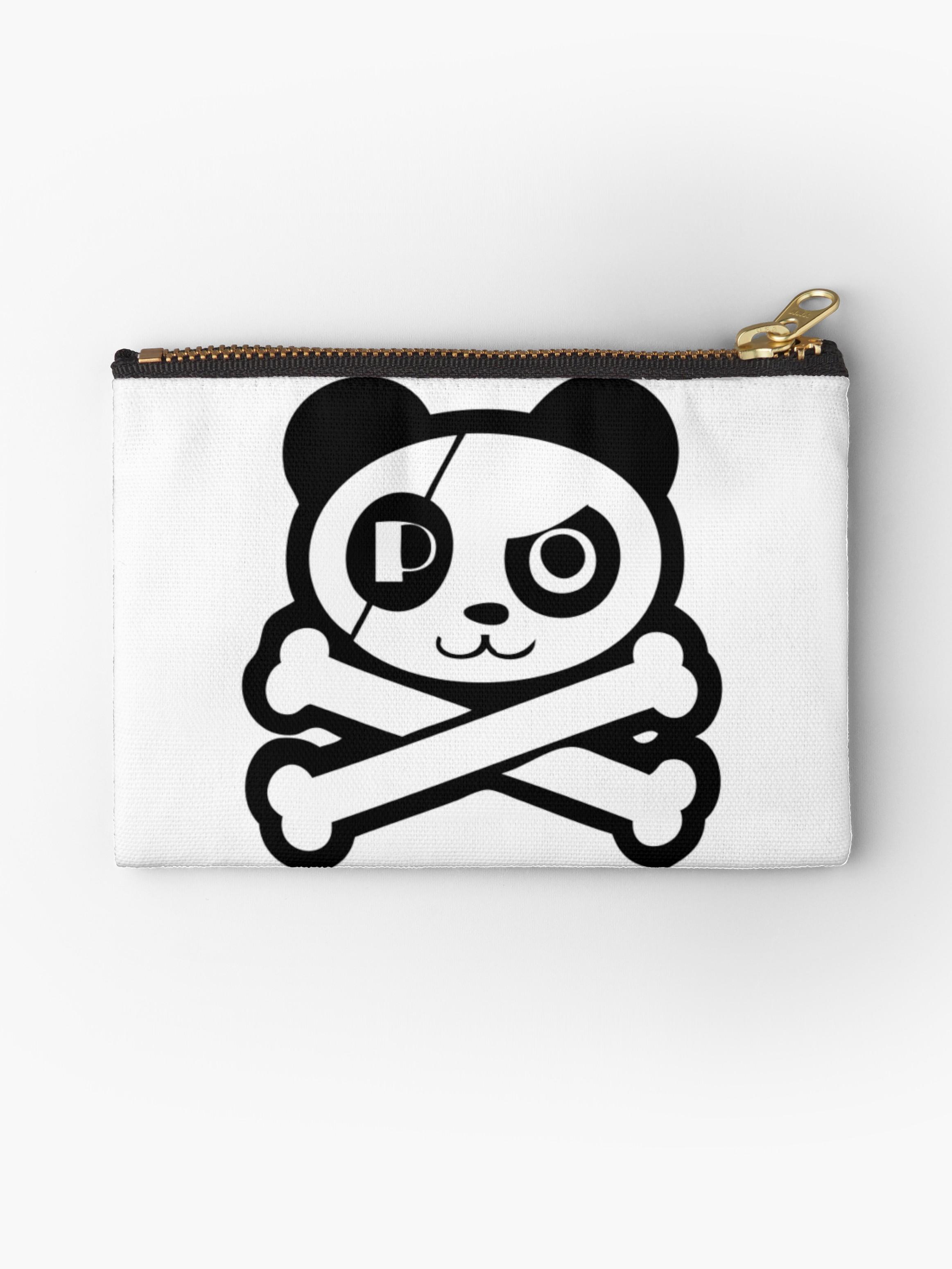 2325x3100 Pirate Panda Eye Patch Studio Pouches By 108dragons Redbubble