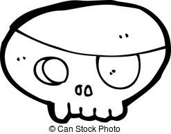247x194 Pirate Eye Patched Skull. Drawing Art Of Cartoon Pirate Eps