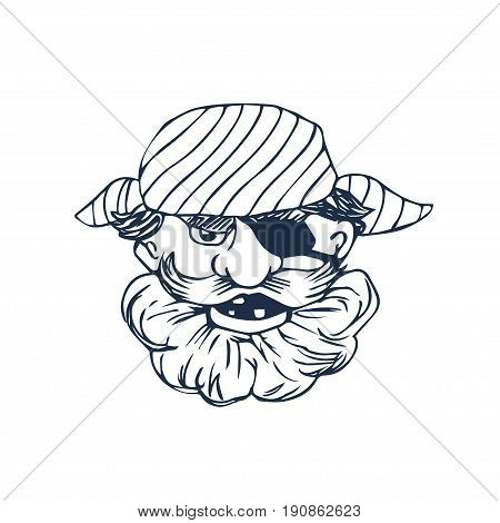 450x470 Funny Bearded Pirate Eye Patch. Vector Amp Photo Bigstock