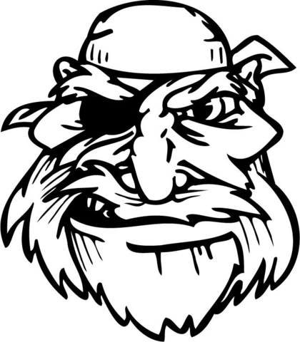 420x480 One Eyed Old Pirate Coloring Page Free Printable Coloring Pages
