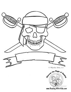 236x305 Jolly Roger Pirate Flag Coloring Page (Free Pirates Printable