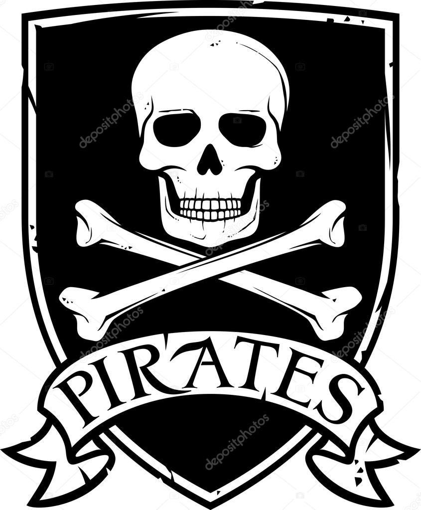 845x1023 Pirate Vector Flag (Jolly Roger Pirate Flag With Skull And Cross
