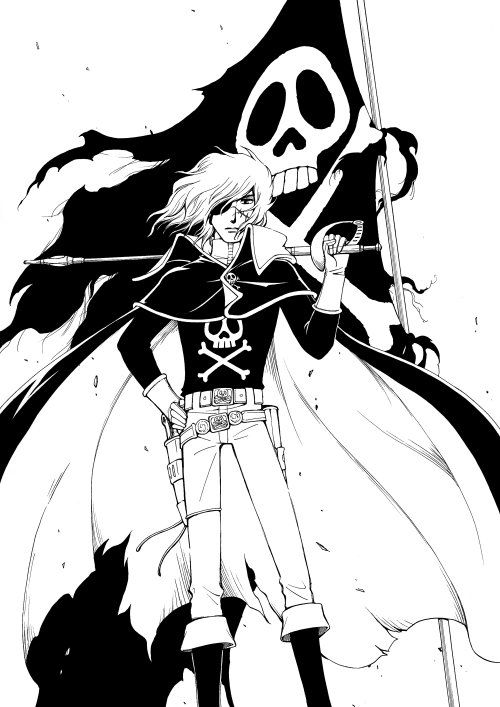 500x707 Space Pirate Captain Harlock And The Flag Of Freedom Captain