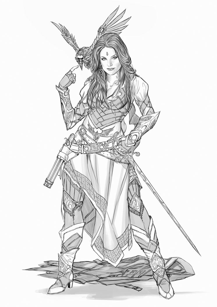 746x1054 Female Pirate Drawings Female Pirate Drawings