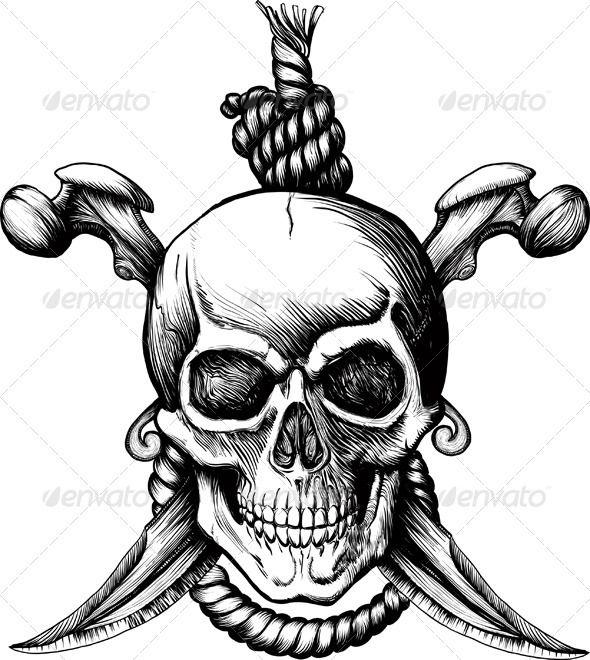 590x660 Jolly Roger Skull Tattoo, Tatting And Tattoo Designs