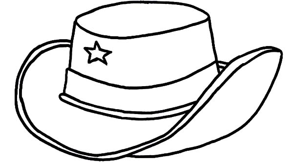 600x333 cowboy hat coloring pages