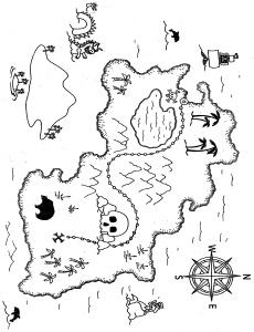 230x300 Printable Treasure Map Template Pack Kid Book Exchange Party