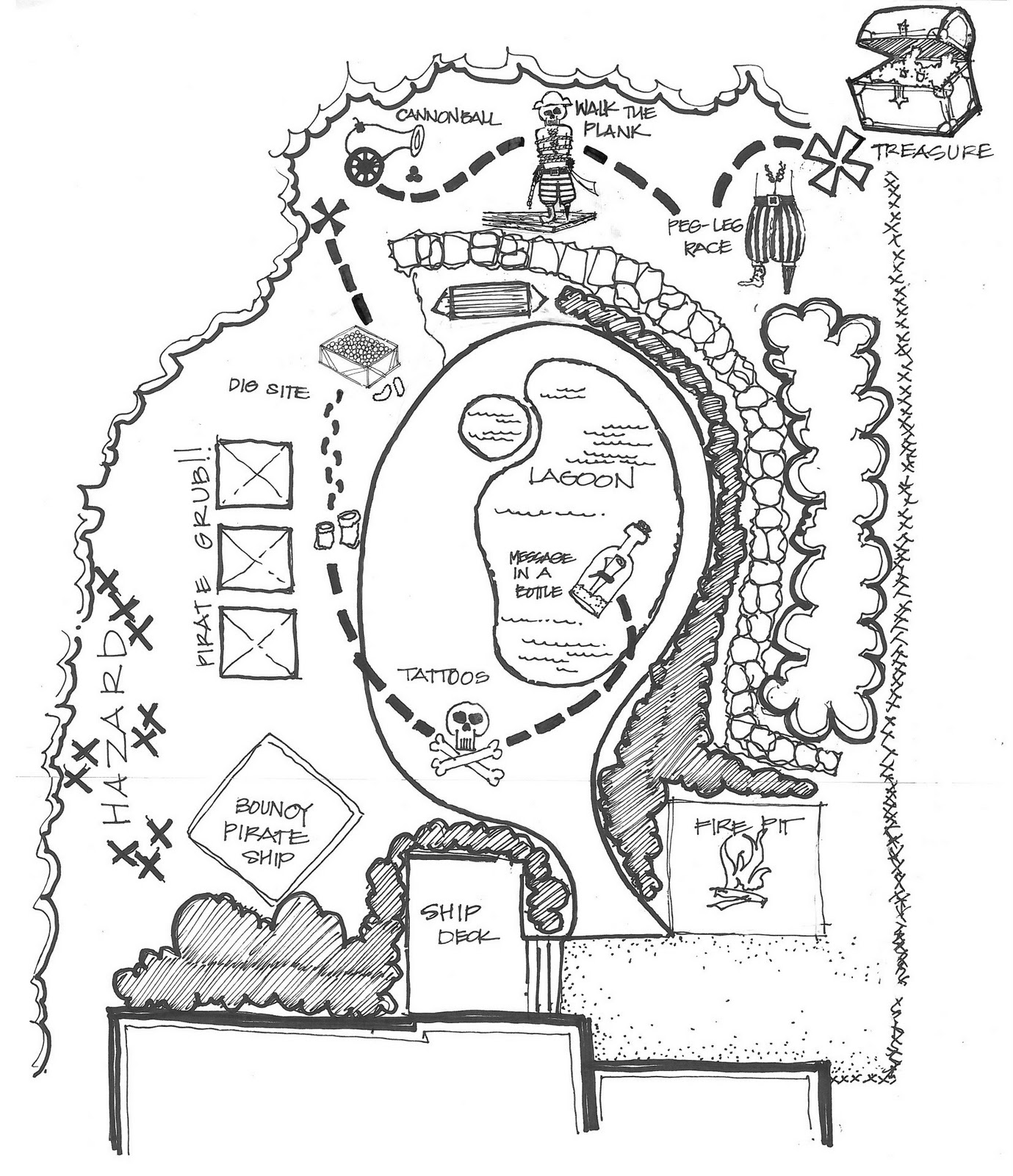 Pirate Map Drawing at GetDrawings.com | Free for personal use Pirate ...