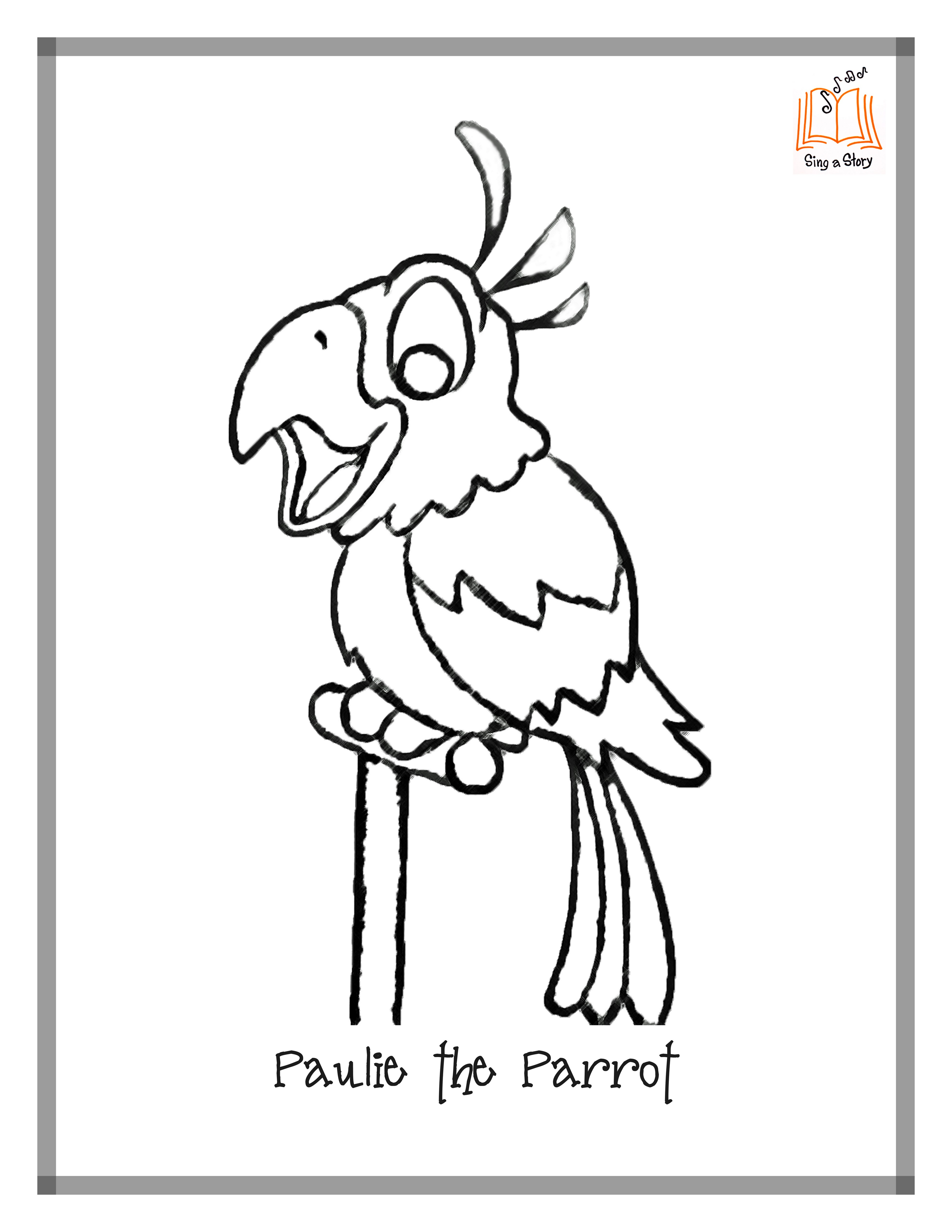 Pirate Parrot Drawing at GetDrawings.com | Free for personal use ...
