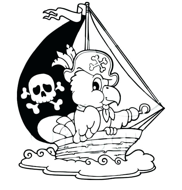 coloring pages pirate parrot - photo#9