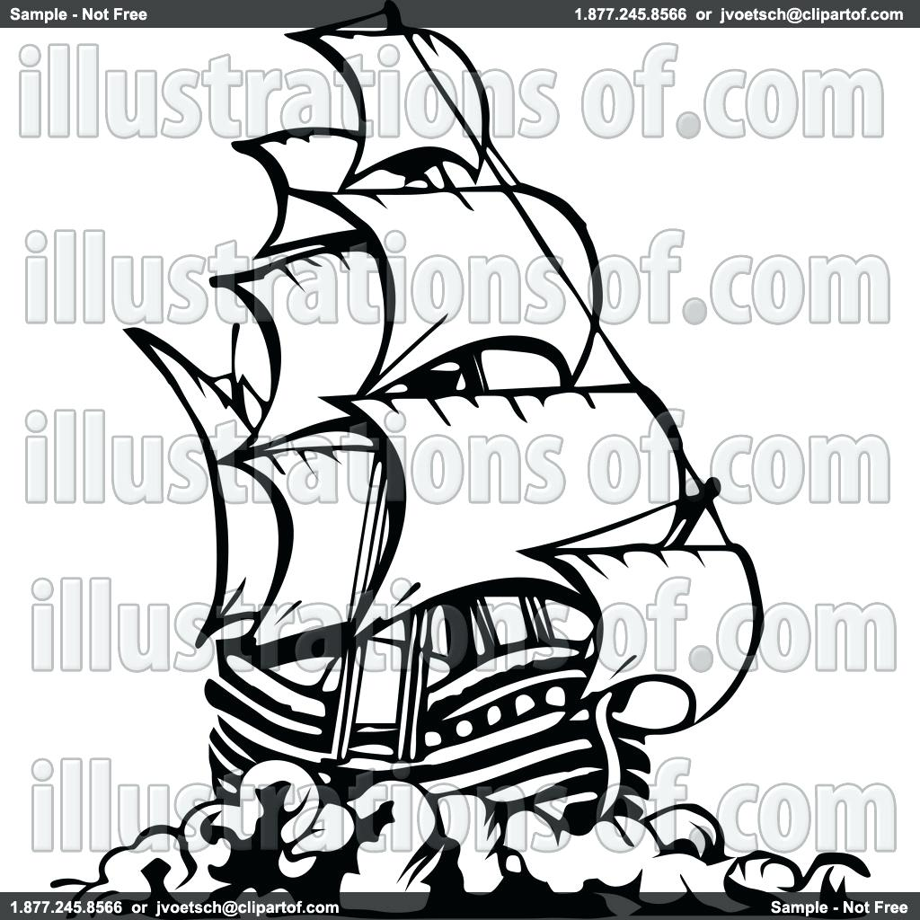 1024x1024 Old Ship Vector 146 Amusing Pirate Outline Wheel Pirate Ship