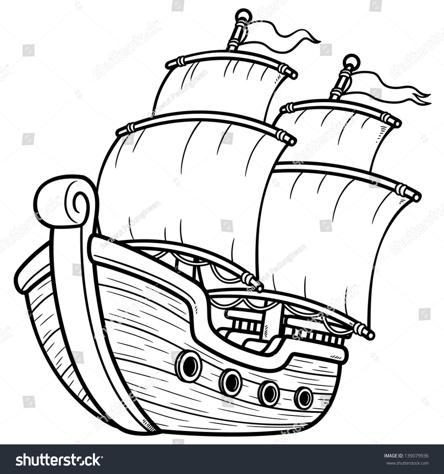 1500x1600 16 Images Of Coin Pirate Ship Drawing Template