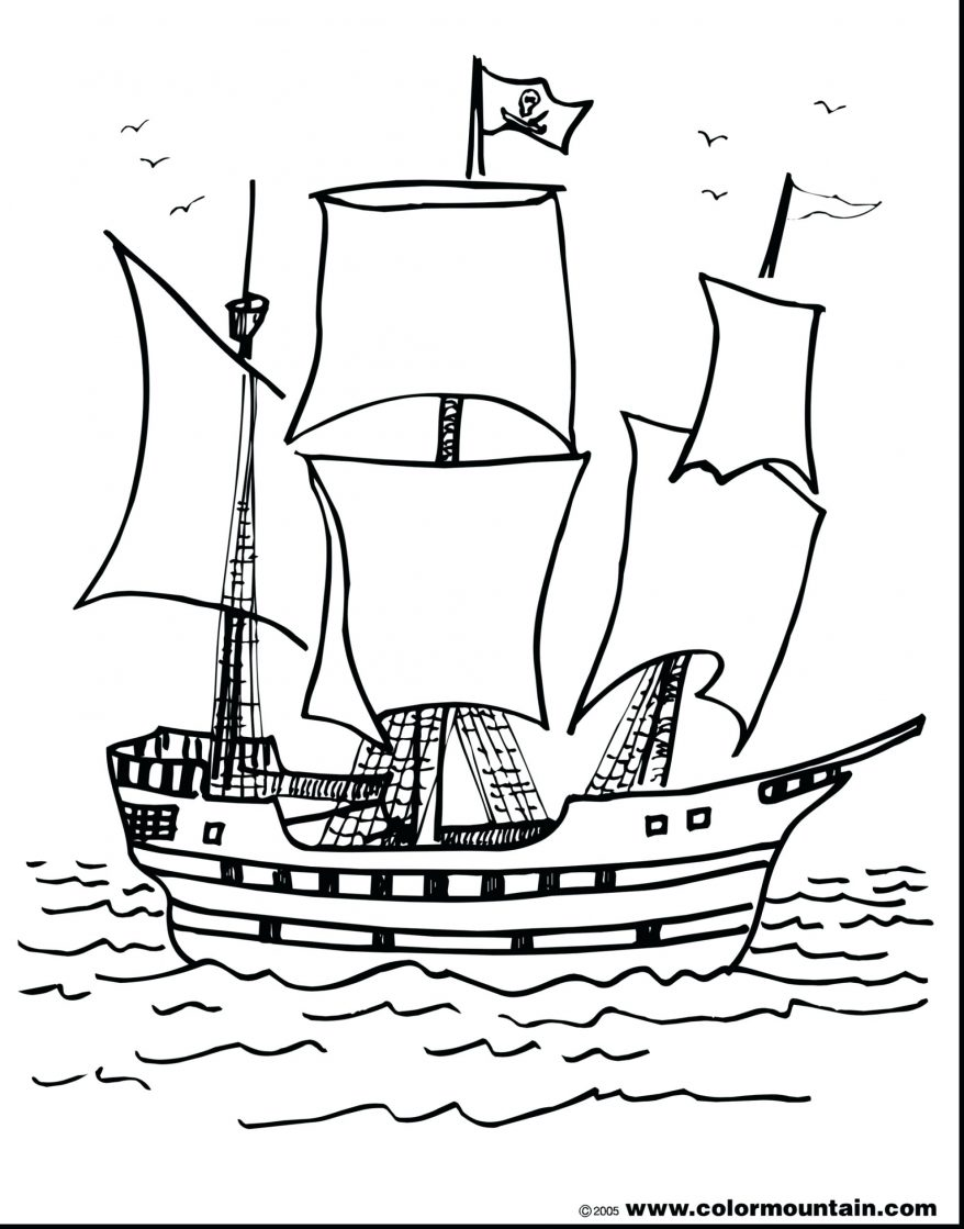 878x1119 Old Ship Vector 146 Amusing Pirate Outline Wheel Pirate Ship