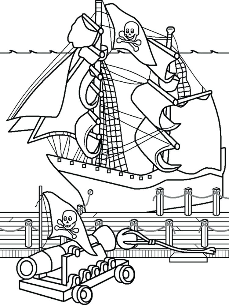 750x1000 Coloring Pages Pirate Ship Pirate Ship Coloring Pages For Boys