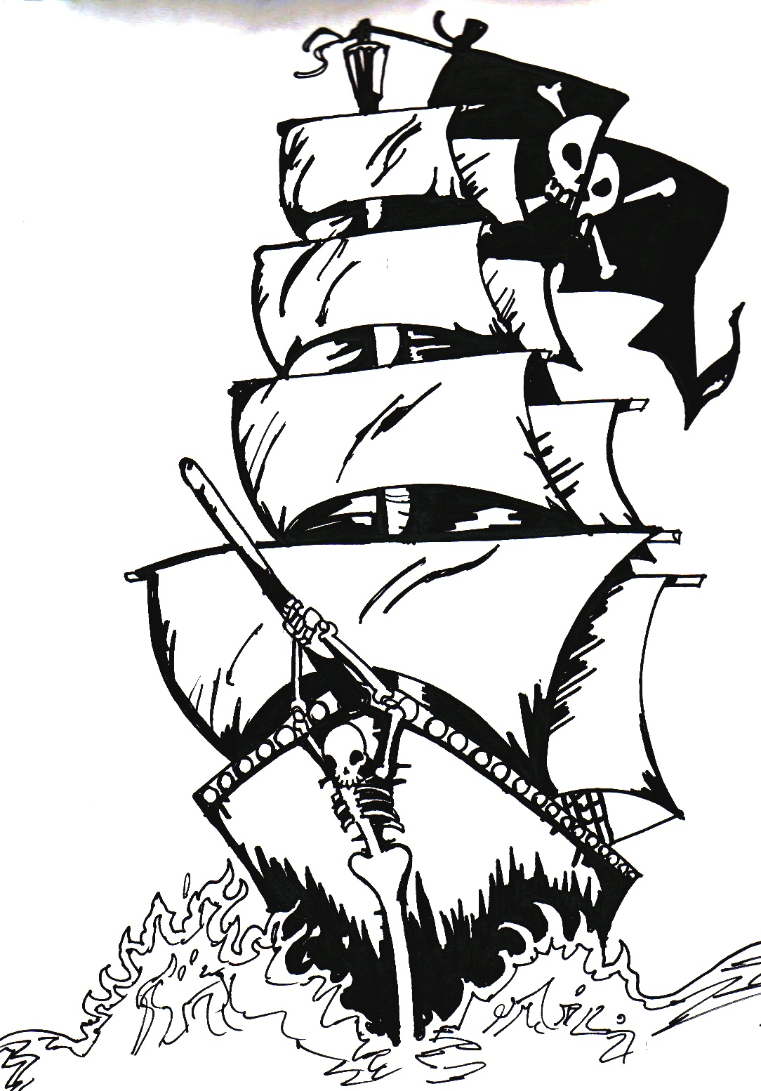 1084x1554 Pirate Ship Line Drawing Pirate Ship By Evergreen Academy