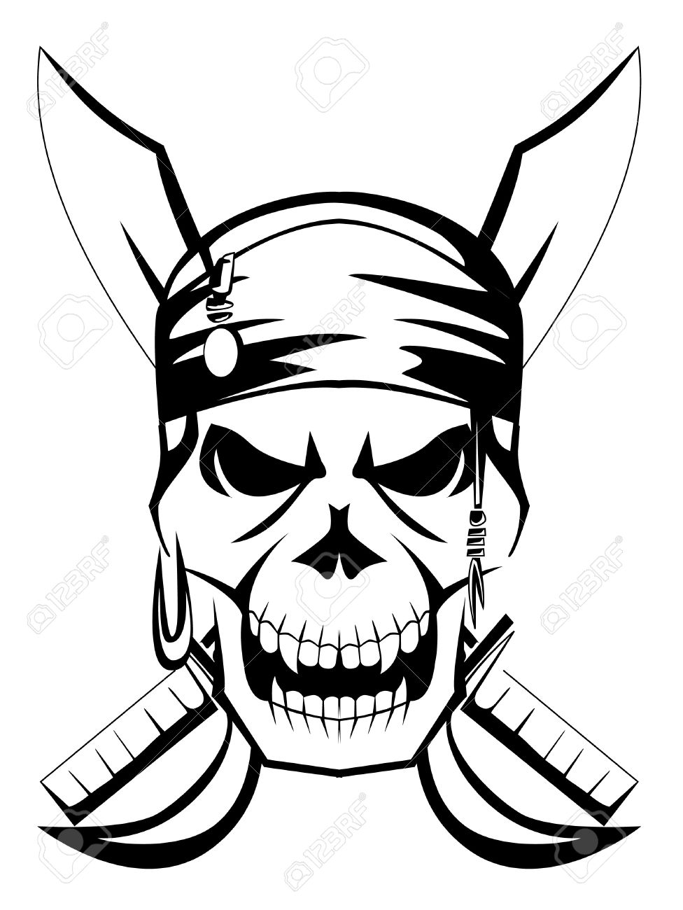 976x1300 Pirate Skull Sword Royalty Free Cliparts Vectors And Stock