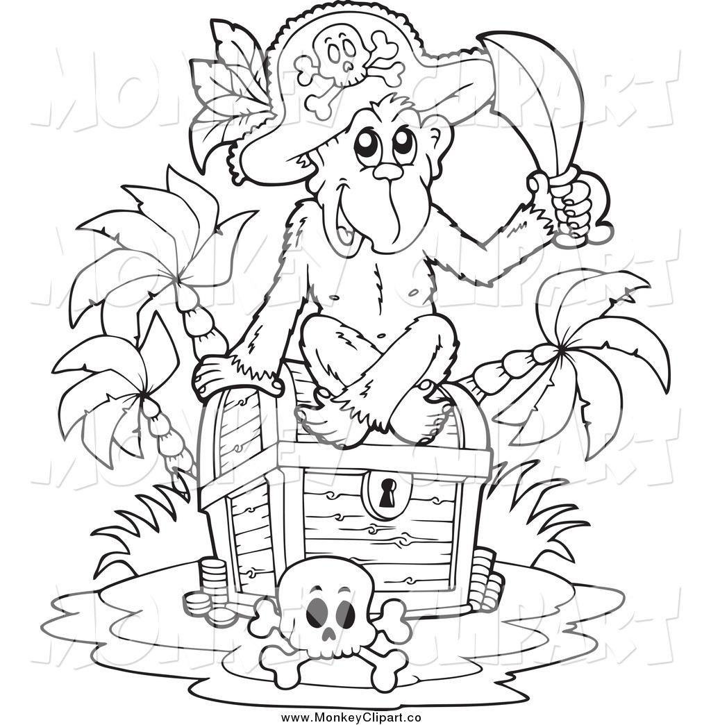 1024x1044 Pirate Treasure Black And White Clipart