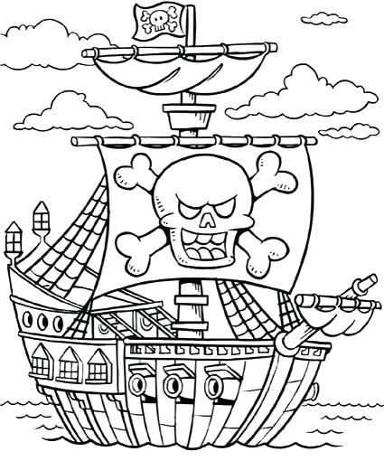 425x510 Pirate Coloring Pages Printable