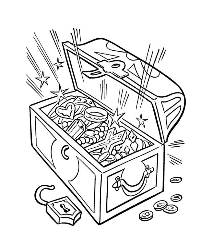 653x800 Pirate Treasure Chest Clipart Black And White