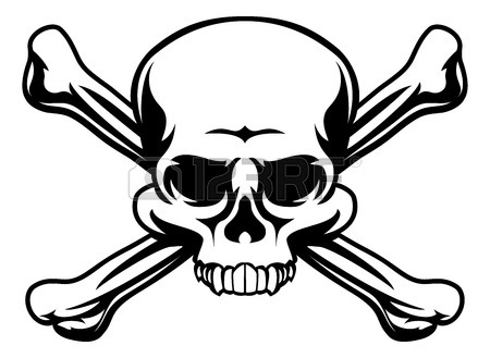 450x329 A Skull And Cross Bones Drawing Like A Pirates Jolly Roger