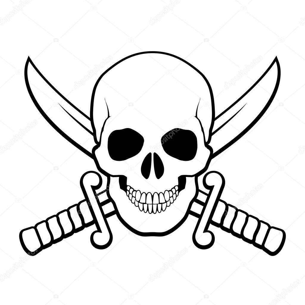 1024x1024 Pirate Symbol Stock Vector Dvargg