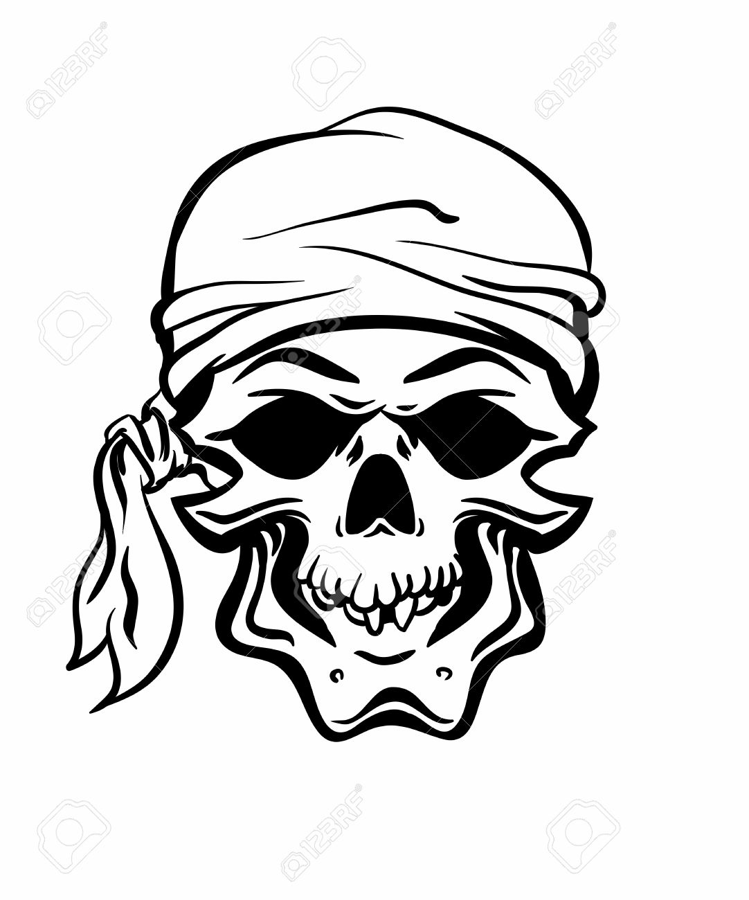 1082x1300 Skallywag Pirate Skull. Vector Eps8 Royalty Free Cliparts, Vectors