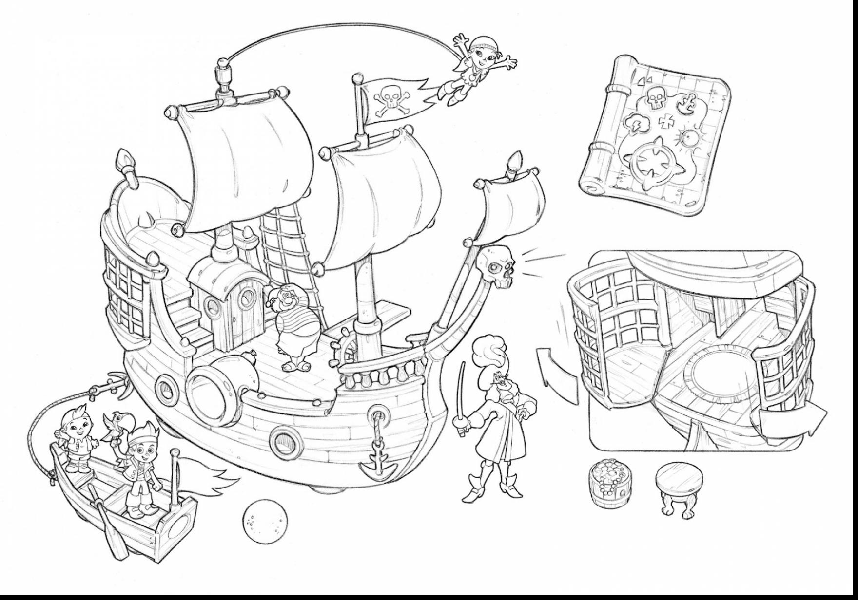 1760x1232 Bucky The Pirate Ship Coloring Pages Coloring