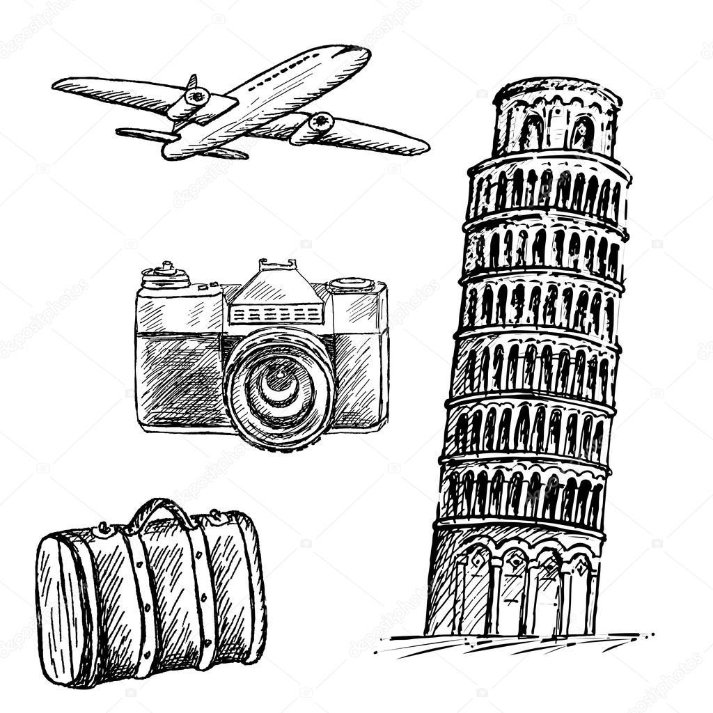 1024x1024 Pisa Tower Stock Vector Lenaalyonushka