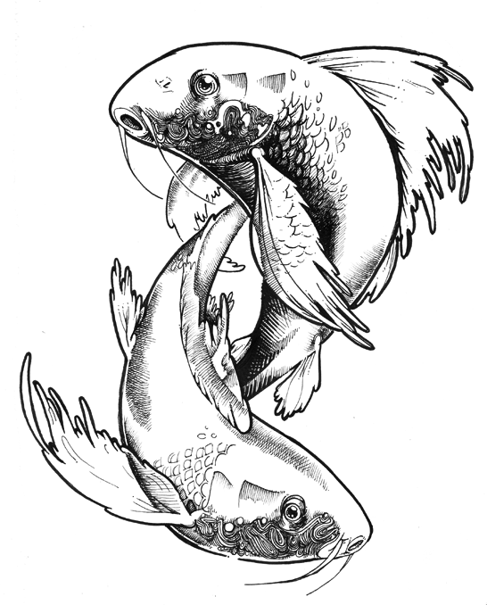 Pisces Drawing At Getdrawings Free For Personal Use Pisces