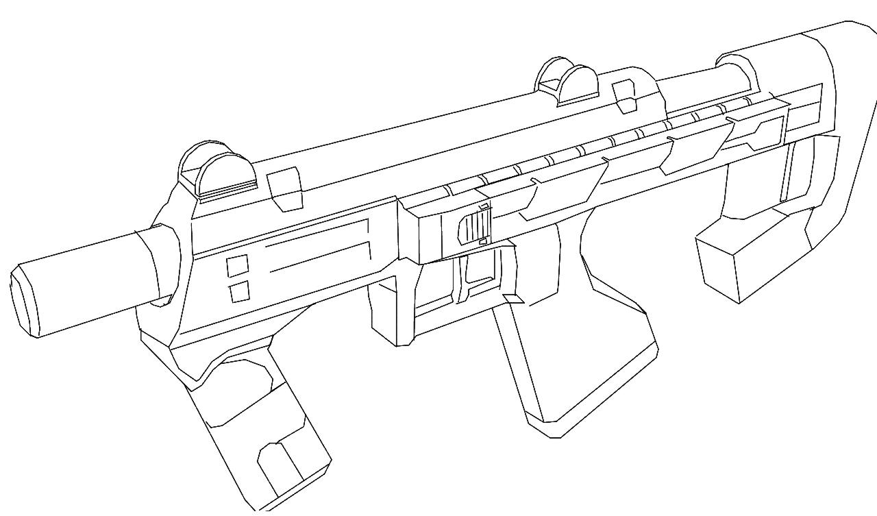 1280x753 Halo 3 Sub Machine Gun By Lewi Apple