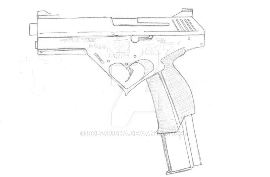 900x590 Lx 7 Combat Pistol By Souzousha