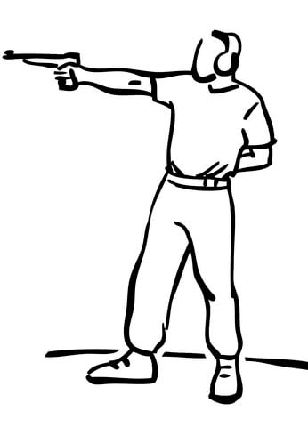 346x480 Pistol Target Shooting Coloring Page Free Printable Coloring Pages