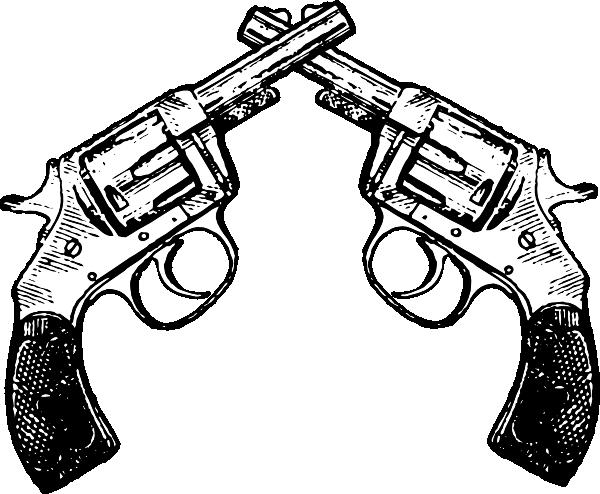 600x494 Pistol Tattoo Drawing