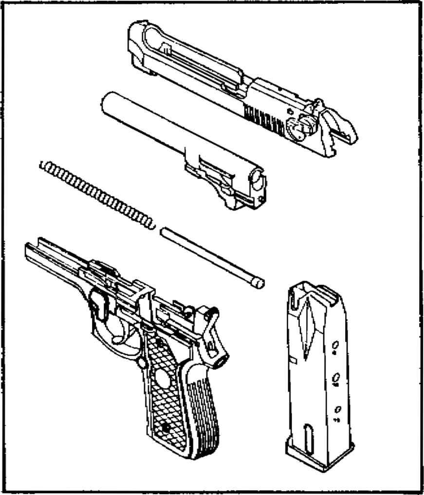 871x1017 Beretta Pistol Parts