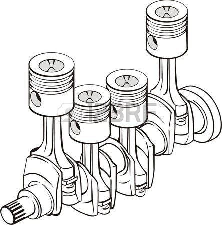 443x450 Detail Vector Isolated Crankshaft With Connecting Rod Piston