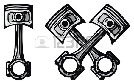 450x281 Crossed Engine Pistons Royalty Free Cliparts, Vectors, And Stock