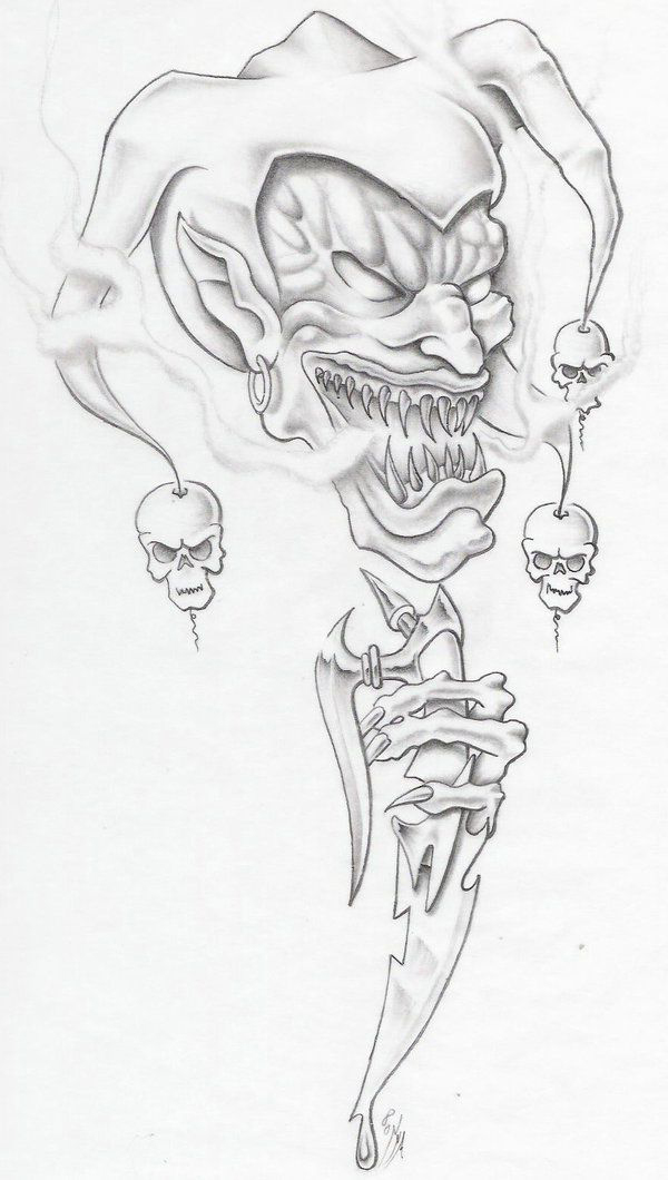 600x1060 Goblin Evil Clown Tattoo Idea Best Tattoo Ideas Gallery
