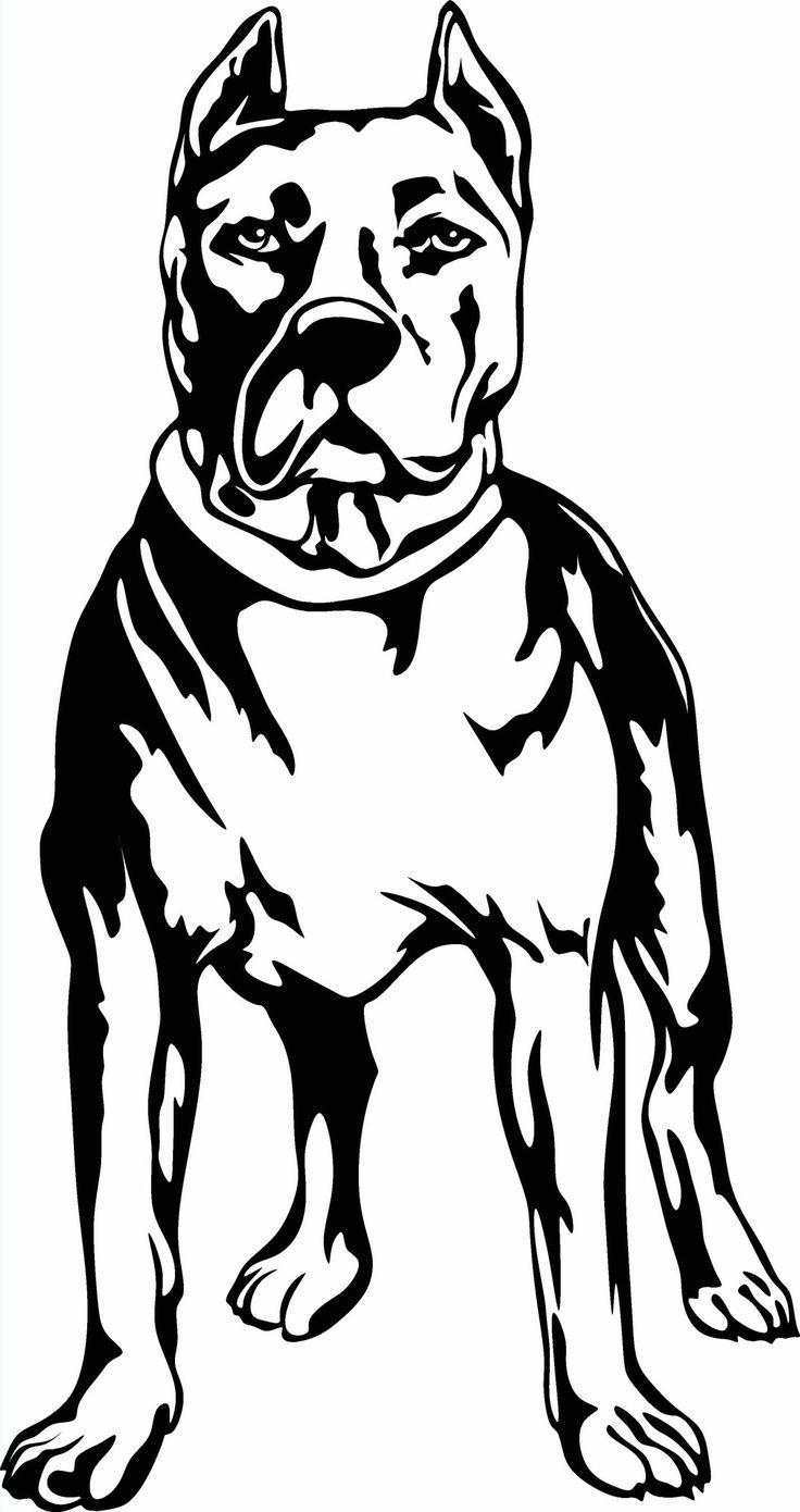 736x1390 Top 10 Pit Bull Silhouette Cameo Drawing