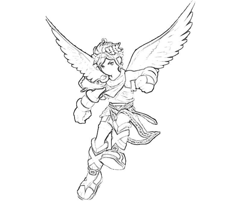 800x667 Kid Icarus Dark Pit Fly Mario