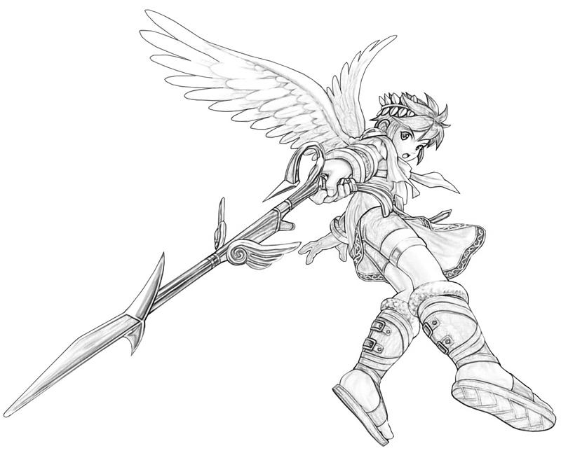 800x667 Kid Icarus Pit Weapon Mario