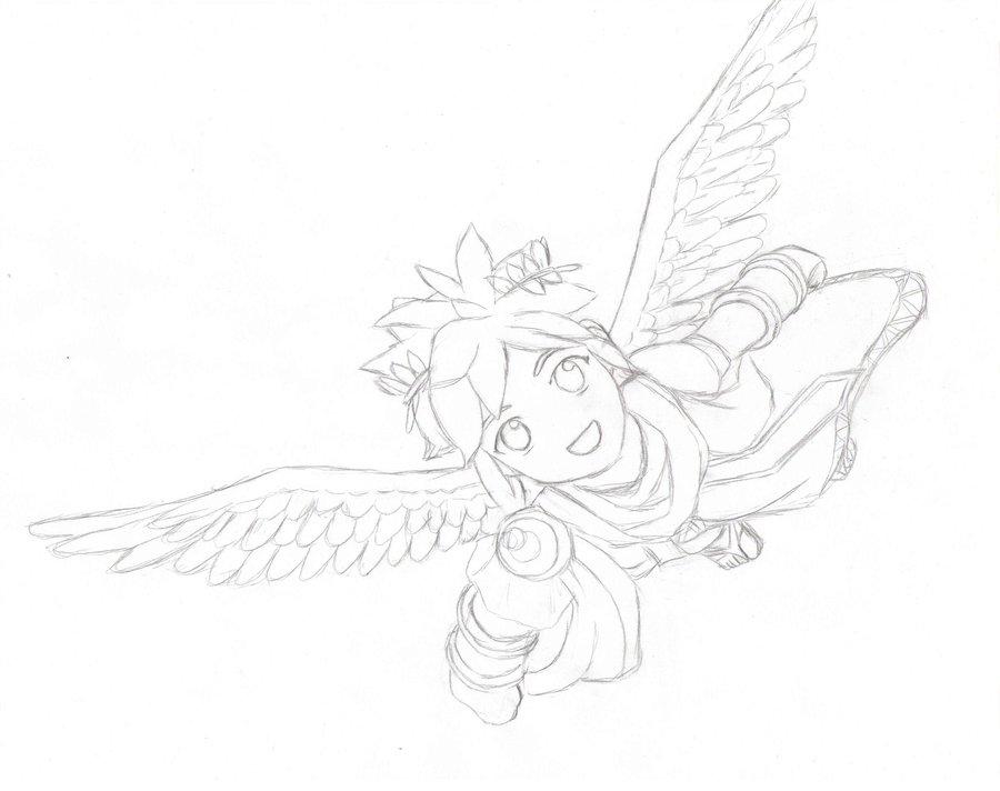 900x712 Sketch Of Pit From Kid Icarus By MeIsPlinfa On DeviantArt