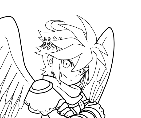 600x500 Dark Pit Linework By FFXDavios On DeviantArt