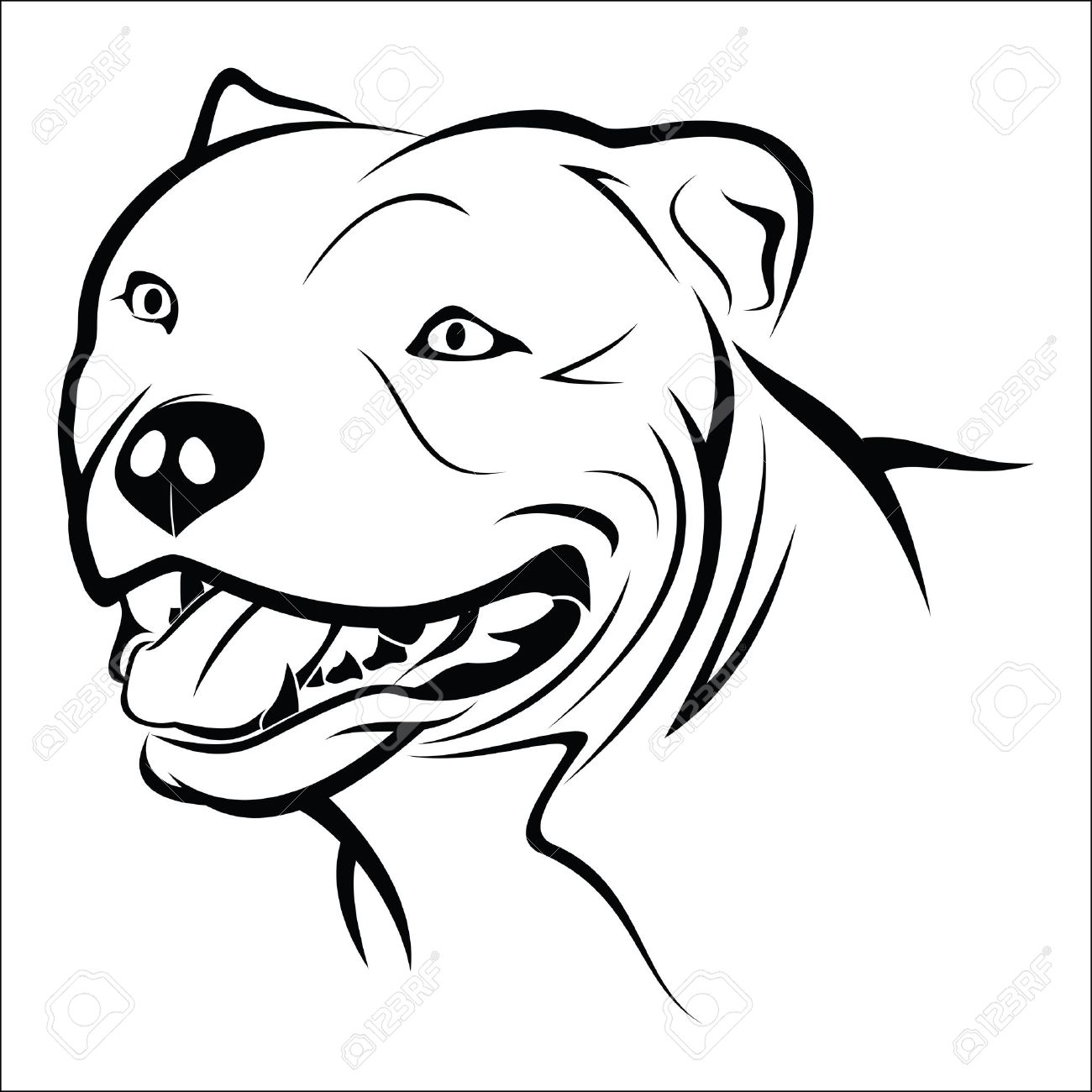 1300x1300 1,369 Pit Bull Stock Illustrations, Cliparts And Royalty Free Pit