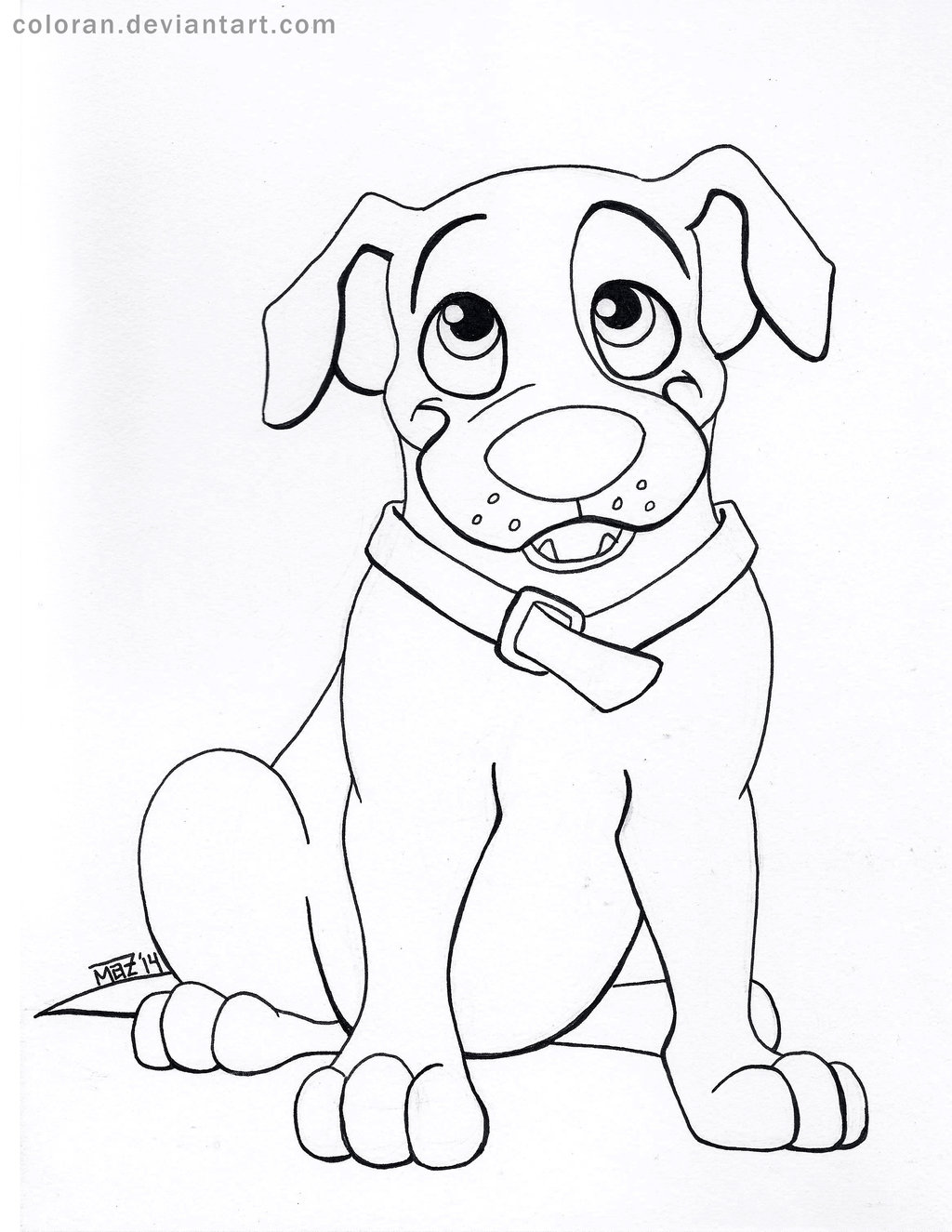 1024x1325 Pit Bull Puppy Line Art By Coloran