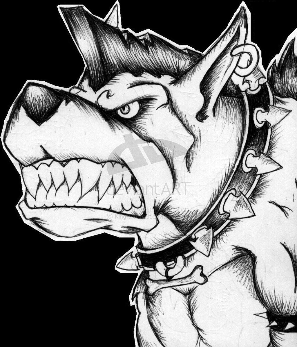 1024x1194 Drawn Pitbull