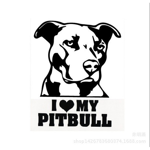 600x600 Wish I Love My Pitbull Bulldog Reflective Waterproof Car Stickers