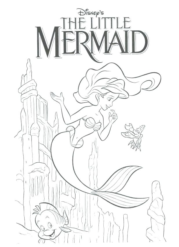 618x855 Little Mermaid Coloring Books And Coloring The Little Mermaid This