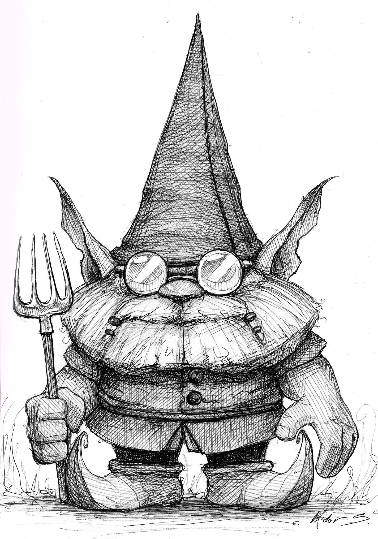 1600x2281 Some Gnome With A Pitchfork By Isidorswande