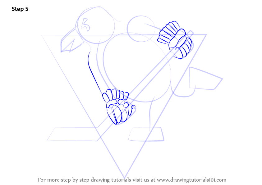 843x596 Learn How To Draw Pittsburgh Penguins Logo (Nhl) Step By Step