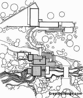 353x415 Fallingwater House Situation Plan Croquis E Plantas